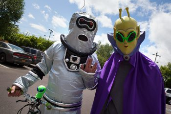 McMenamins UFOfest is an annual 4-day event in McMinnville, OR with a 5k Run, Speakers Forum, Alien Parade, Alien Pet Costume Contest, live music, live radio broadcast and more.